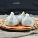 Inippu Kozhukattai / Ukadiche Modak / Steamed rice dumpling with sweet filling. Gluten and vegan free