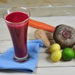 Heart Healthy and Cleansing Juice: Beet Carrot Apple Lime Orange Ginger Juice