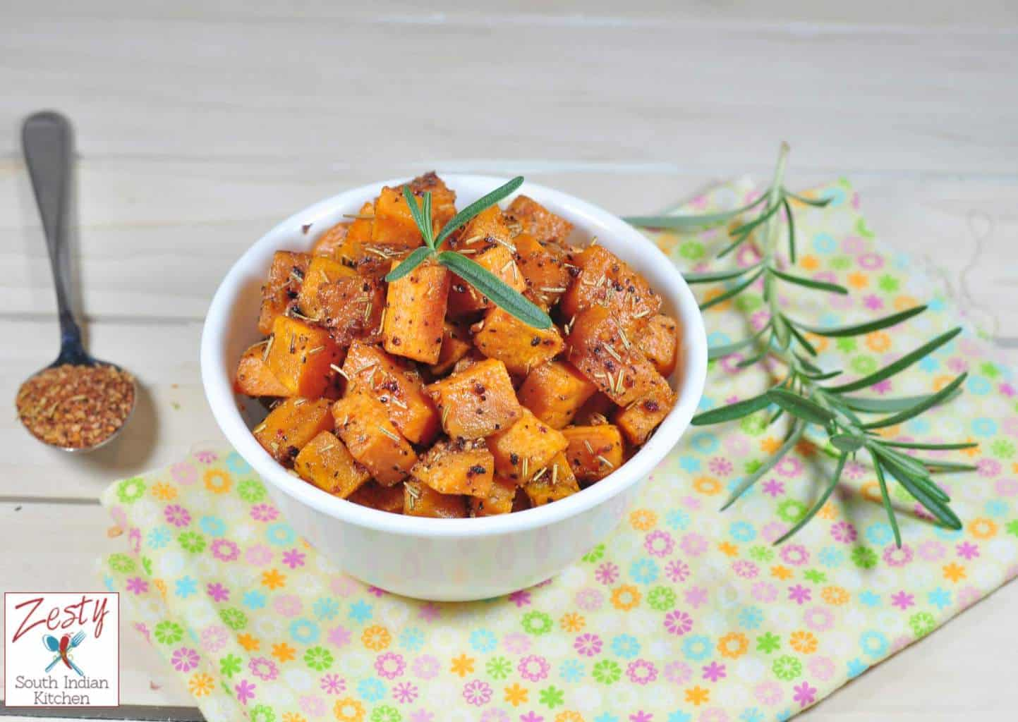 Roasted Sweet Potatoes With Honey and Spices: Thanksgiving Side dish
