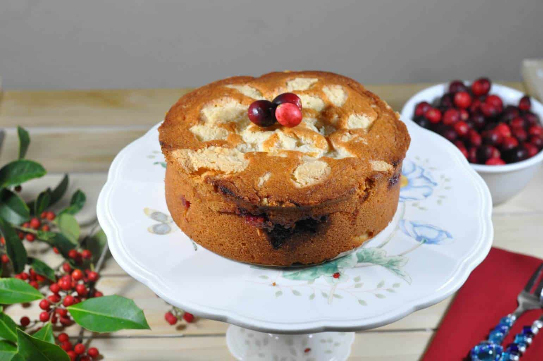 Cranberry Vanilla Coffee Cake - Zesty South Indian Kitchen