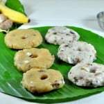 Karadaiyan Nombu Adai (Sweet and Savory Steamed  Rice cakes)