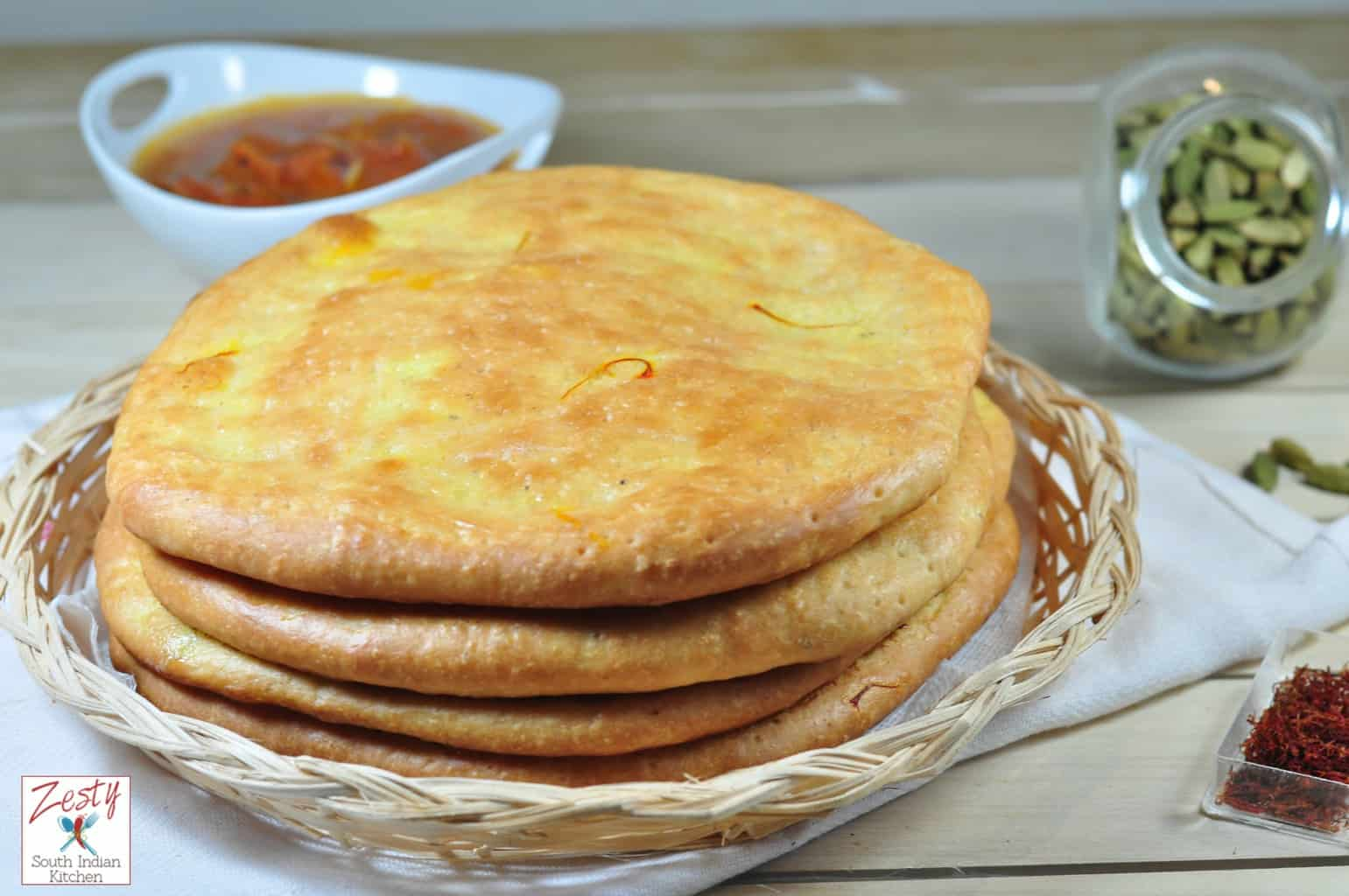 Sheermal Saffron Flat Bread With Touch Of Cardamom Zesty South Indian Kitchen