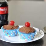 Coca cola cupcake with coca cola icing