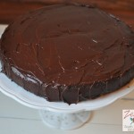 Devils food cake with chocolate ganache 2