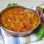 tomatoridgegourd curry 11