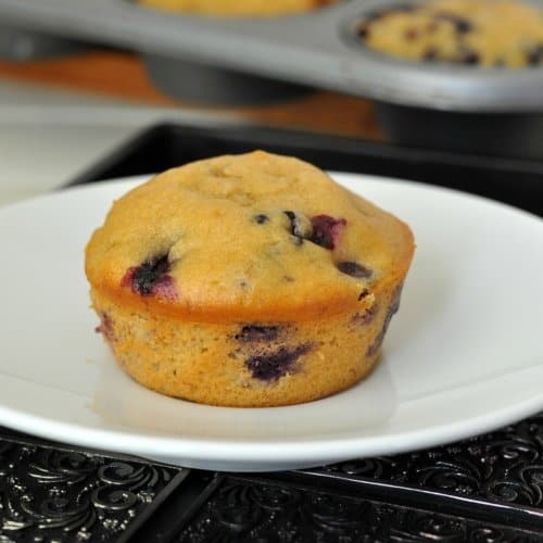 Blueberry banana muffins 4