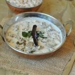 Pavakka Kichadi / Bitter gourd cooked in spicy yogurt