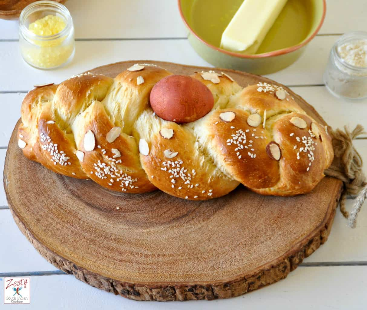 Tsoureki / Lampropsomo /Greek Easter bread - Zesty South ...