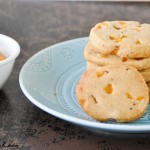 Jackfruit shortbread cookies with cardamom