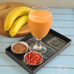 Antioxidant Rich Goji berry  Banana smoothie