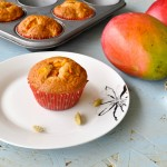 Mango cardamom muffins
