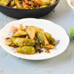 Pan roasted spiced Brussels sprouts