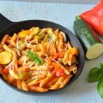 One pot penne pasta with mixed vegetables