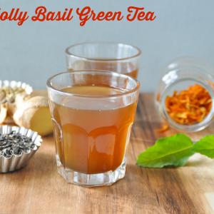 Holly basil green tea  1