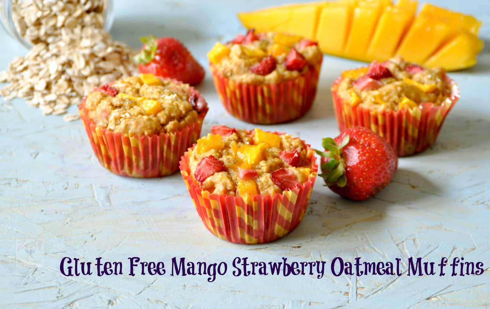 Gluten free Mango Strawberry Oatmeal Muffins and Savory ...