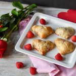 Raspberry Rose  Petal Jam Puff pastry turnovers