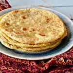 Puran  Poli /Sweetened chickpea stuffed  Flat bread