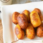 Rellenitos  de platano /Plantains stuffed with black beans
