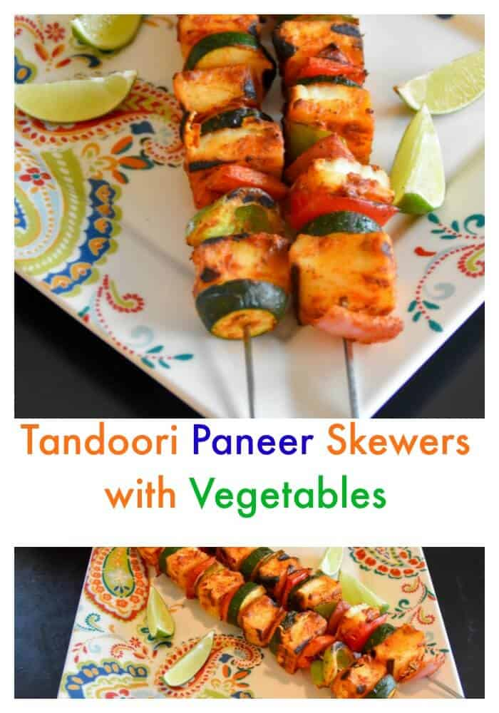 Tandoori paneer skewers with Vegetables #RecipeMakeover - Zesty South ...