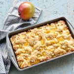 Mango Kuchen: Coffee cake with touch of cardamom