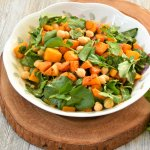 Spiced Roasted butternut Squash Watercress Salad