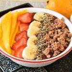 Cherry Mango Layered Smoothie Bowl