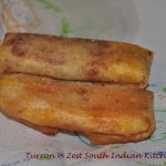 Turrón: Deep fried sweet plantain in spring roll wrappers