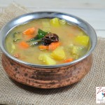 Sambar/ Vegetable Spicy Stew with Lentil and Tamarind
