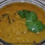 Mattar Dal Amti/ Split Green Peas Cooked in Maharashtrian way