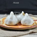 Inippu Kozhukattai / Ukadiche Modak / Steamed rice dumpling with sweet filling. Gluten and vegan free
