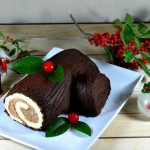 Bûche de Noël: Traditional Christmas Yule Log for Baking Partners Challenge 18