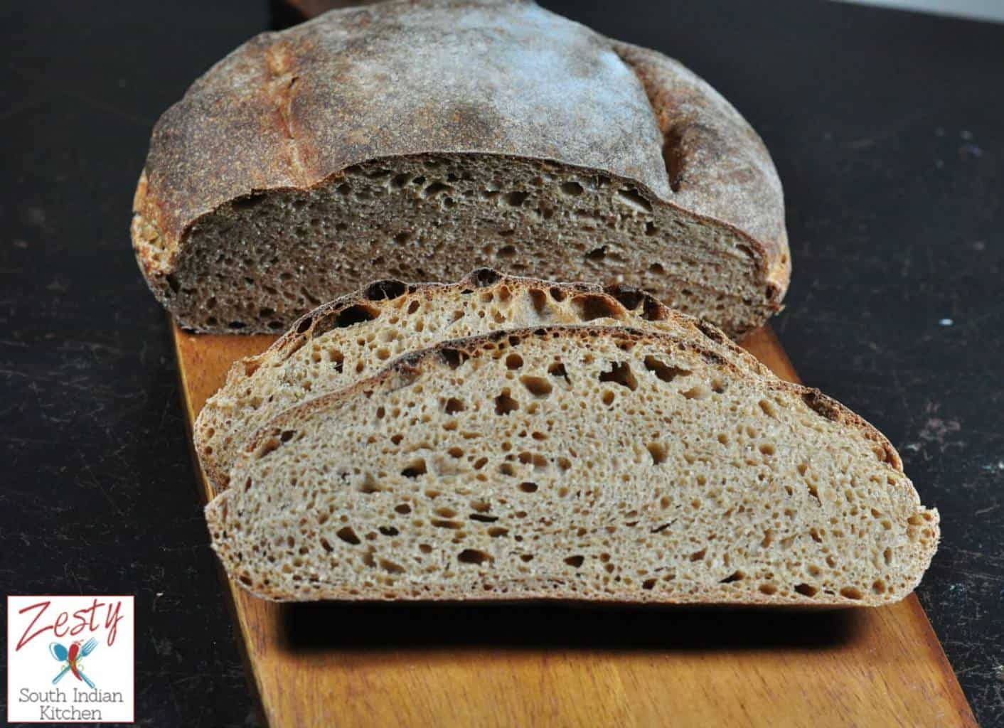 Whole wheat sourdough Tartine style bread - Zesty South ...