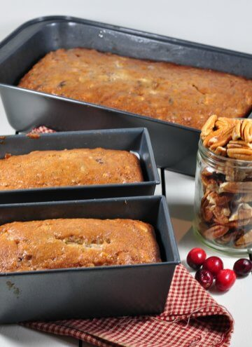 Banana Sour Cream Pecan Cranberry Bread: A Tale of Two Cities