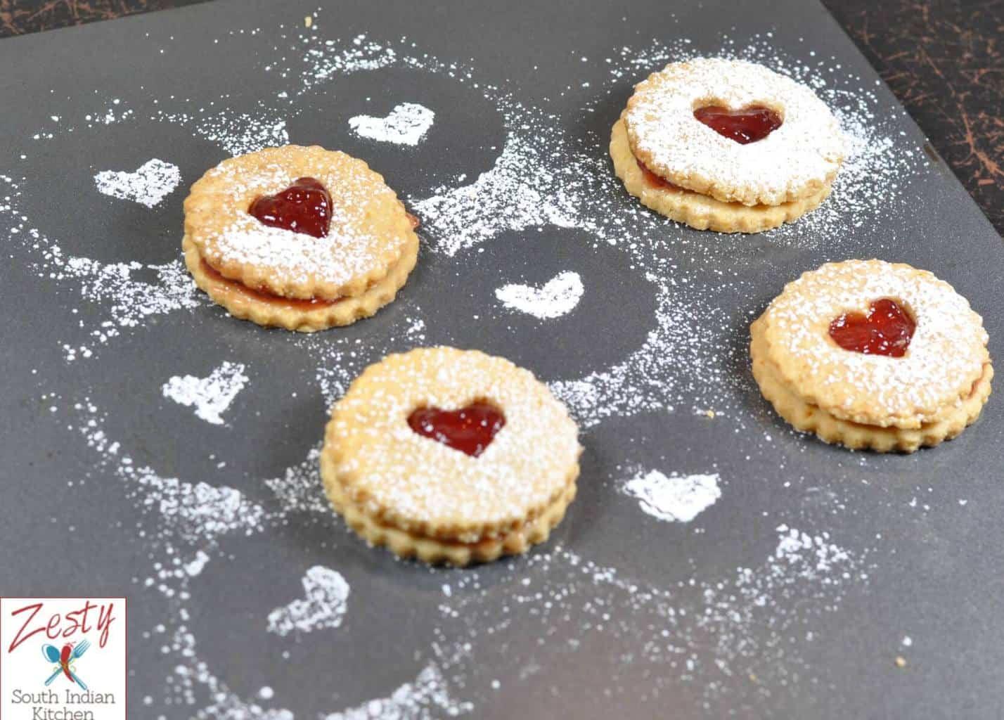 Linzer Cookies for Baking partners challenge