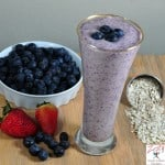 Coconut Berry Oatmeal Smoothie