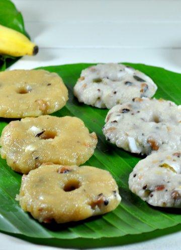 Karadaiyan Nombu Adai (Sweet and Savory Steamed  Rice cakes)