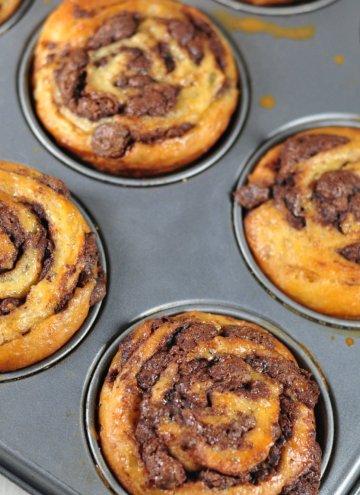 Chocolate Babka Swirl Buns for Baking Partners challenge