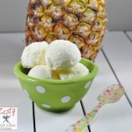 Homemade fresh Pineapple Ice cream