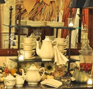 fall tea buffet