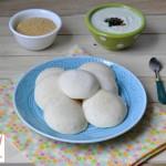 Idli/Steamed Rice and split black gram cake