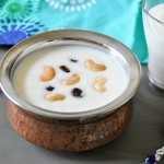 Rava pal payasam/ Semolina milk pudding Indian style