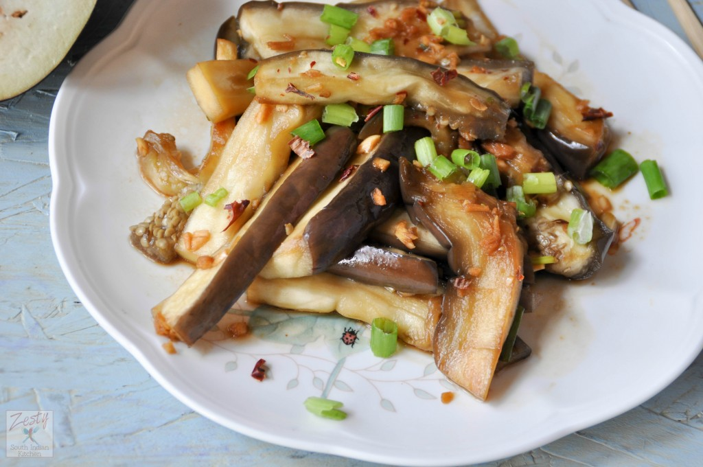 Korean steamed eggplant gaji namul and book review zesty south this recipe is adapted from the book cook korean by robin ha this cook book is really fun book it is like old comic book style with illustrations and forumfinder Gallery