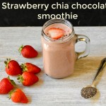 Strawberry chia chocolate smoothie