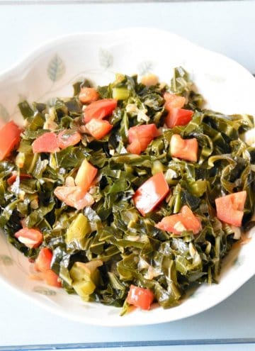 Southern Style Vegetarian Collard Greens