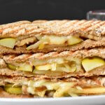 Apple comte cheese walnut Panini