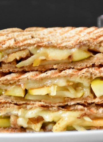 Apple comte cheese walnut Panini