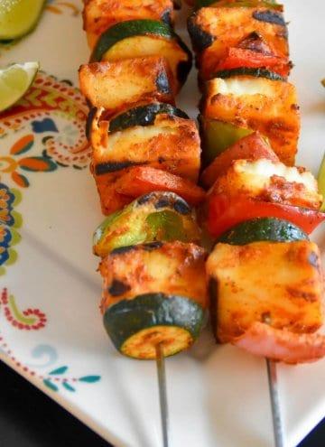 Tandoori paneer skewers with Vegetables #RecipeMakeover