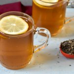 Lemon cinnamon green tea