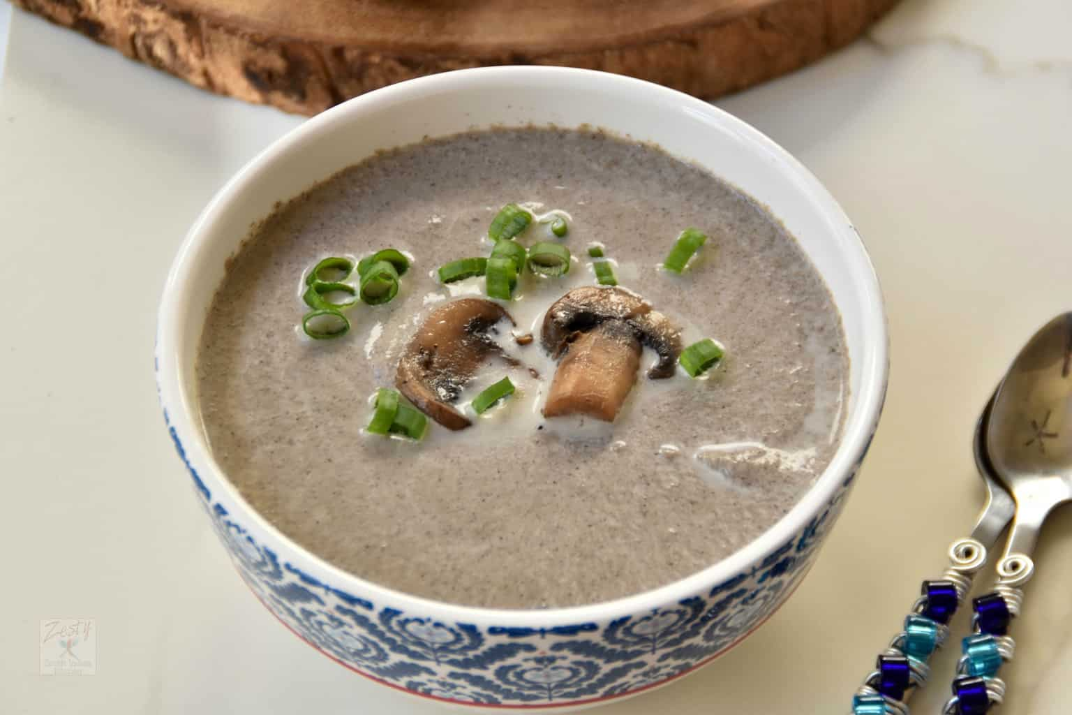 Browned butter mushroom soup