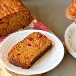 Pumpkin orange cranberry bread